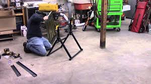harbor freight welding table harbor freight welding table assembly quick review youtube