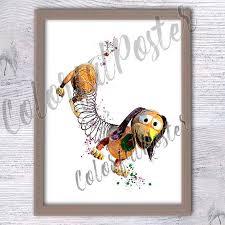 toy story slinky dog poster slinky dog watercolor print disney