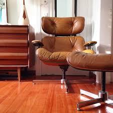 Modern Leather Lounge Chair Mid Century Modern Brown Leather Lounge Chair And Ottoman By