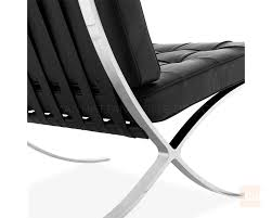 furniture wonderful black barcelona chair replica with chrome