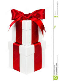 christmas present boxes stacked white and christmas gift boxes isolated stock photo