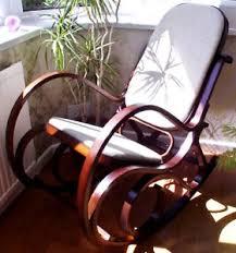 siege thonet siège rembourré noix bois courbé bouleau chaise à bascule thonet
