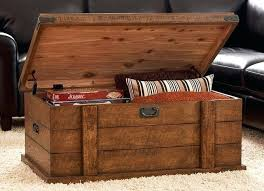Rustic Chest Coffee Table Storage Trunk Table Sgmun Club