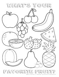 fruit picture to color for kids free printable fruits and food