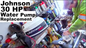 30 hp johnson water pump replacement youtube