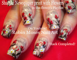 robin moses nail art sharpie pens used for lavender vintage