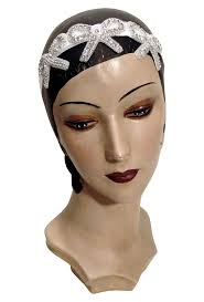 beaded headband the deco flapper bow vintage beaded headband the