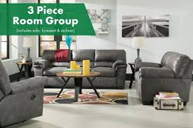 Bladen  Piece Living Room Group - Three piece living room set