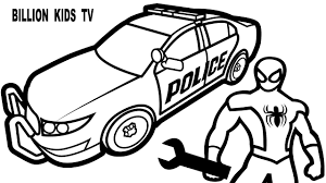 cartoon cars coloring pages spiderman repair new police cars coloring pages for kids coloring