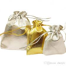 wedding gift bag 2017 gold silver color organza bag wedding gift bag pouch