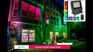 diy solar flood light color changing solar flood light sgg rgb 54 2r youtube