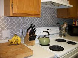 simple kitchen decoration using beige patterned tile moroccan