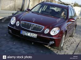 car mercedes red car mercedes e270 cdi t t model e class upper middle sized