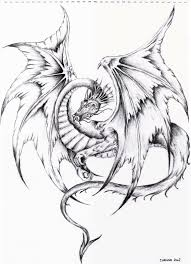 drawn dragon flying dragon pencil and in color drawn dragon