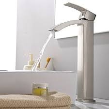 Bathroom Vessel Sink Faucets vccucine contemporary modern stainless steel brushed nickel tall