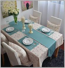 Table Runners And Placemats Extra Long Table Runners Blue Table