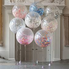 36inch large clear confetti balloon wedding decoration balloons