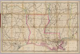 Railroad Map Louisiana Railroad Map Of The United States David Rumsey