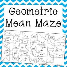 great geometric mean practice for my geometric students my tpt