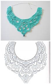 crochet necklace pattern images Free crochet chandelier necklace pattern with video tutorial jpg