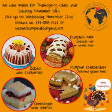 thanksgiving 2017 cakes to order the of europe cafe
