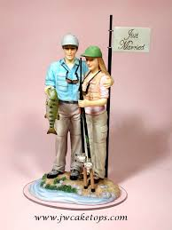 fishing wedding cake toppers fishing wedding cake toppers the wedding specialists