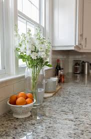granite countertop white cabinets ikea rock backsplash tile thin