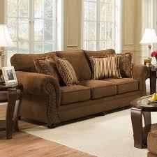 Microfiber Sofa And Loveseat Luna Chocolate Microfiber Sofa And Loveseat Set 6565 Simmons Made
