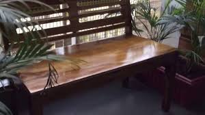 wooden bench crafted in sheesham wood by rightwood youtube