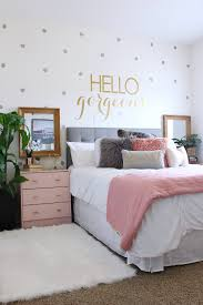 Bedroom Makeover Ideas by Surprise Teen U0027s Bedroom Makeover Pink Nightstands Teen