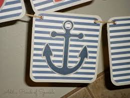 add a pinch of sparkle nautical themed baby shower ideas