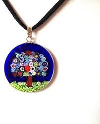 italian murano tree of mosaic pendant sterling silver price