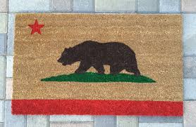 Unique Housewarming Gifts by California Bear Welcome Mat Hand Painted Custom Doormat