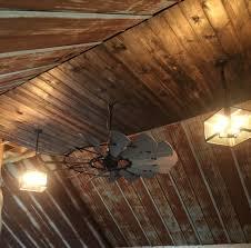 Design Ideas For Galvanized Ceiling Fan Rustic Barn Tin Ceiling With Windmill Ceiling Fan Rustic Living