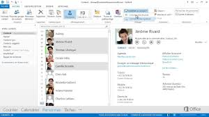 afficher outlook sur le bureau exporter des contacts sous forme de vcards ou de contacts outlook