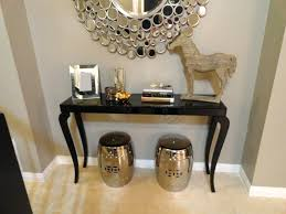 Narrow Foyer Table Decorations Elegant Foyer Vignette With Great Arched