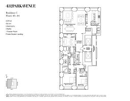 432 park avenue floor plans new york usa