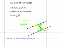 Example Of Alternate Interior Angles Properties Of Parallel Lines Learning Target I Can Use Properties