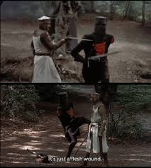 monty python and the holy grail black knight gif