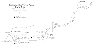 Green Line Chicago Map by Rock River Paddling Fishing