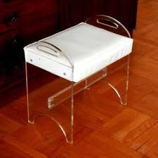 Lucite Vanity Bench Shop White Vanity Bench On Wanelo