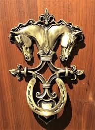 horse head door knocker with classical design borum
