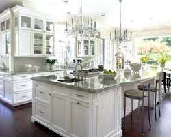 fabulous antique white kitchen cabinets and modern island on