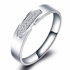 verlobungsring f r sie trendy pave set liebhaber ring 14 karat 585 weiß gold 0 1ct unisex