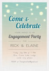 free printable engagement party invitations templates cimvitation