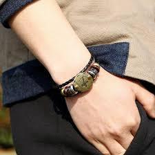 leather hand bracelet images Zodiac leather bracelet jpg