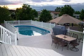 Backyard Above Ground Pool Ideas Oval Above Ground Pools Backyard Optimizing Home Decor Ideas