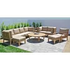 Teak Sectional Patio Furniture Teak Outdoor Sofas Chairs U0026 Sectionals Shop The Best Deals For