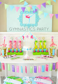 Decoration Birthday Party Home Throw A 10 0 Gymnastics Birthday Party Gymnastics Center