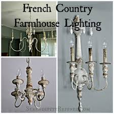 french country farmhouse style chandeliers and sconces with
